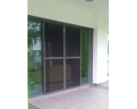Elegant Slide s/steel mesh Door