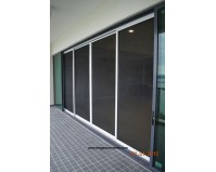 4 Panel low profile track Elegant Sliding Screen Door