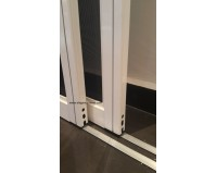 Low profile Track Sliding Screen Door