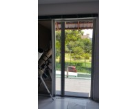 Roller Screen Door with heat resistant mesh