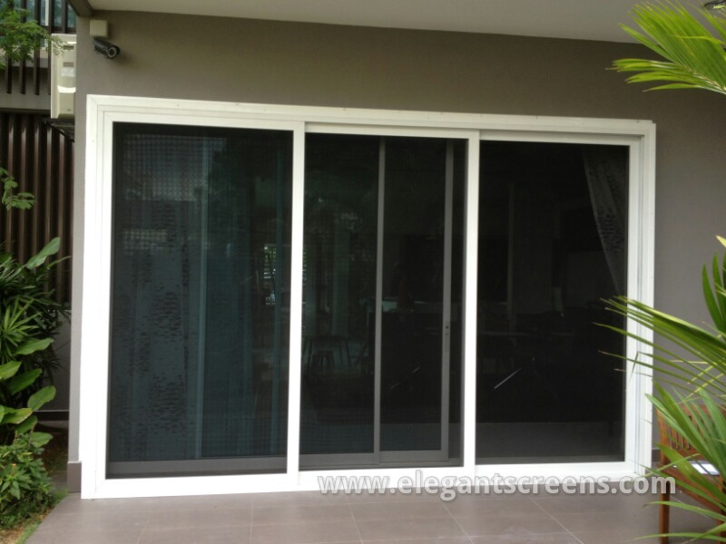 Panel Sliding Security Screen Door