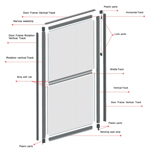 Elegant screens malaysia mosquito net retractable insect for Retractable insect screen door