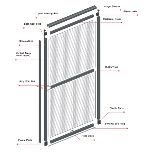 Elegant screens malaysia mosquito net retractable insect for Rollaway screen door parts